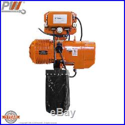 Prowinch 2 Speed 2 Ton Electric Chain Hoist Power Trolley 20 ft. G100 Chain M