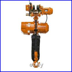 Prowinch 5 Ton Electric Chain Hoist with Electric Trolley Double Speed 30ft Lift