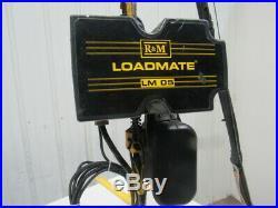 R&M LM05 Loadmate 1/4 ton Electric Chain Hoist 115V 1Ph 16FPM 12' Lift