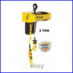 R&m Lk Electric Chain Hoist 2 Ton, 20 Ft Lift, 16/3 Fpm 2-speed, 230 Volt