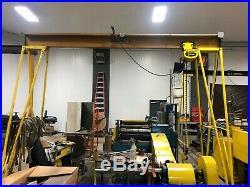 Spanco 1 Ton Portable A-Frame Gantry Crane with 1 Ton Budgit Electric Chain Hois