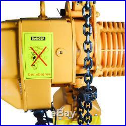 Super 2200 Electric Chain Hoist, 2200 lb, 10ft Lift Electric Crane Hoist