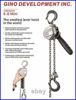 TruePower Advanced Mini Lever Chain Hoist 1/4 (0.25) Ton, 3' Standard Lift