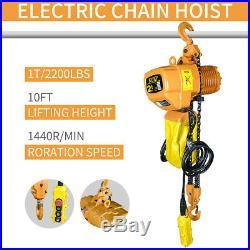 USED Electric Chain Hoist 2200 lb. Electric Crane Hoist HD Super 1 Ton 10ft Lift