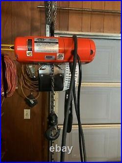 Used Cmco Shopstar Elec Chain Hoist- 300 Lb 1 Speed 16 Fpm 115 Volt Pendant Cont