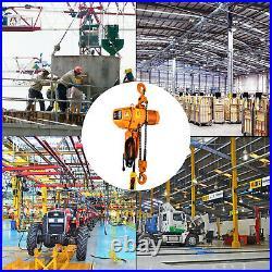 VEVOR Electric Chain Hoist Single Phase Hoist Crane 4400lbs/2t 15ft Chain 110V