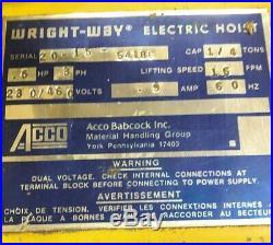 Wright Way 1/4ton Electric Chain Hoist