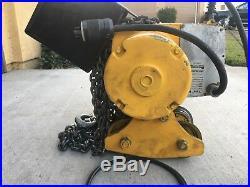 Yale 1/2 ton 230/460 volt electric chain hoist