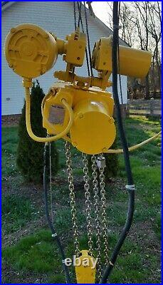 Yale 2 Ton Electric Chain Hoist With Motorized Trolley 230/460