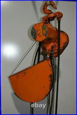 Yale 2 ton electric chain hoist 4000 lb 220V / 230V 3 phase MR603RMHIN 2Ton