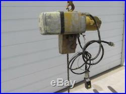 Yale Eaton Model KEL1-10H1551 Electric Chain Hoist 1 Ton 115/230 Volt 1 PH