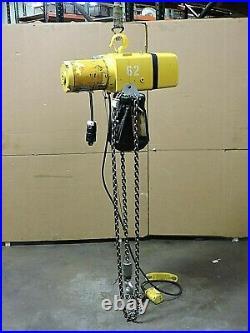 Yale Electric Chain Hoist Kel1-15th42s1 2000lbs 1 Ton 230/460v 3ph