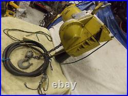 Yale Electric chain hoist 1000 lb 1/2 ton 230v 3 ph 11 feet lift 12' power cord