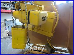 Yale KEL1-20RT15S1 1 Ton Electric Chain Hoist with power trolley speed control